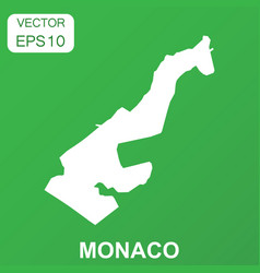 monaco map icon business concept monaco pictogram vector image