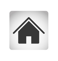 monochrome square frame with silhouette house icon vector image