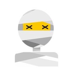 Mummy icon flat vector
