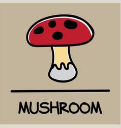 Mushroom hand-drawn style vector