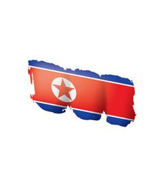 north korea flag on a white vector image