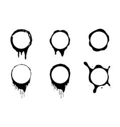 paint splash frames set vector image