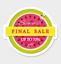 paper cut out sticker final summer sale vector image