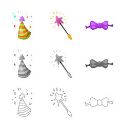 Party and birthday symbol vector