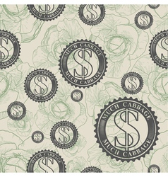 Pattern with symbols of money vector