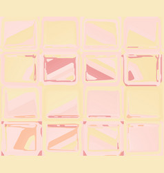 pink yellow pattern with abstract squares vector image