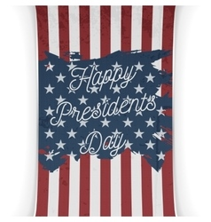 Presidents Day United States of America Flag vector image