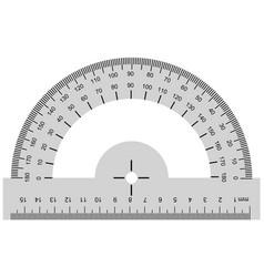Protractor geometrical instrument vector