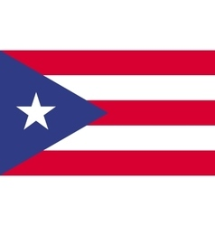 Puerto Rico flag image vector image