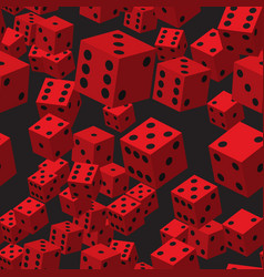 red dice seamless pattern vector image