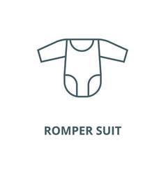romper suit line icon linear concept vector image