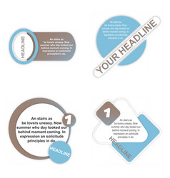 Sale tag set of circle flash sticker offer banner vector