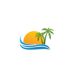 sea logo template vector image