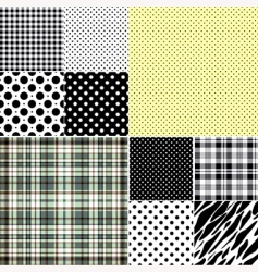 seamless patterns vector image