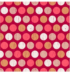 seamless polka dots grunge texture vector image