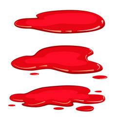 Set puddle blood liquid pool plash vector