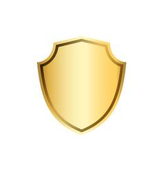 shield gold icon shape emblem vector image