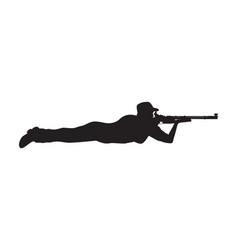 shooter prone position vector image