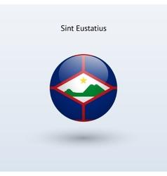 Sint Eustatius round flag vector image