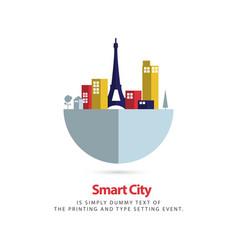 Smart city template design vector