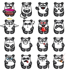 Smiley pandas vector image