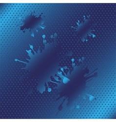 Splash halftone blue background vector