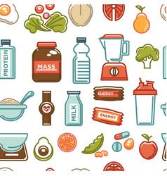 sport nutrition gaining weight products protein vector image