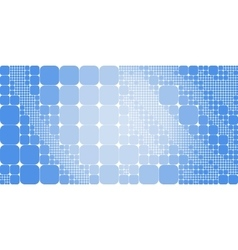 Square blue white gradient geometrical abstract vector