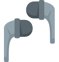 stereo wireless earbuds icon flat isolated vector image