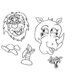 summer mood drawing animals human mimicry li vector image