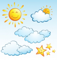 summer weather vector image