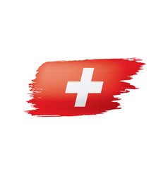 Switzerland flag on a white vector