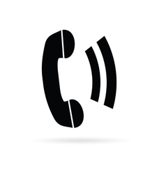 telephone black vector image