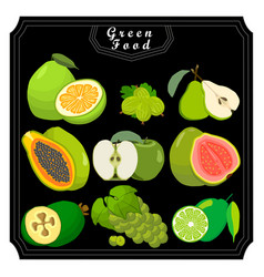The green fruits vector
