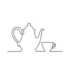 time for tea concept vector image