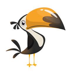 toucan cartoon icon toucan bird vector image