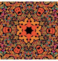 Tribal seamless design in orange color Seamless vector image