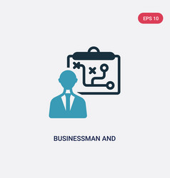 Two color businessman and tactics icon from vector