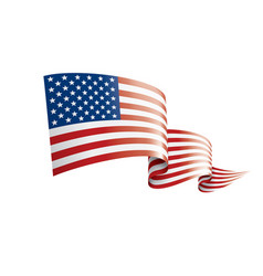 Usa flag on a white vector
