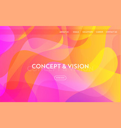 website template modern flat design web page vector image