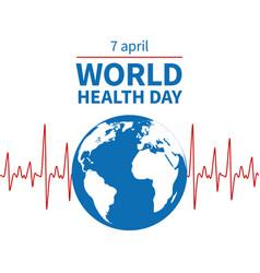 World health day concept wellness medical vector