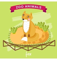zoo animal fox vector image