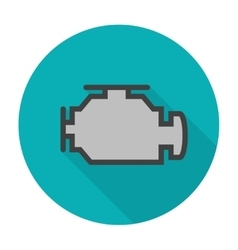 Check engine icon flat vector