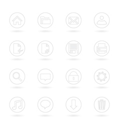 Gray Web Icons vector image vector image