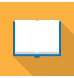 Open book on white vector image