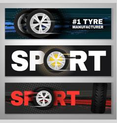 tyre banner set vector image