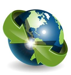 abstract green globe vector image vector image