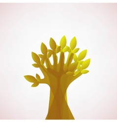 Hoping Tree hands vector image vector image