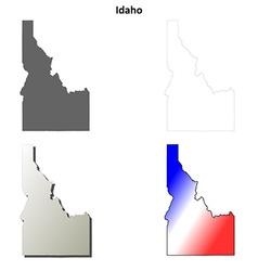 Idaho outline map set vector image vector image