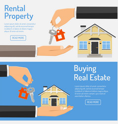 purchase and rental real estate banners vector image